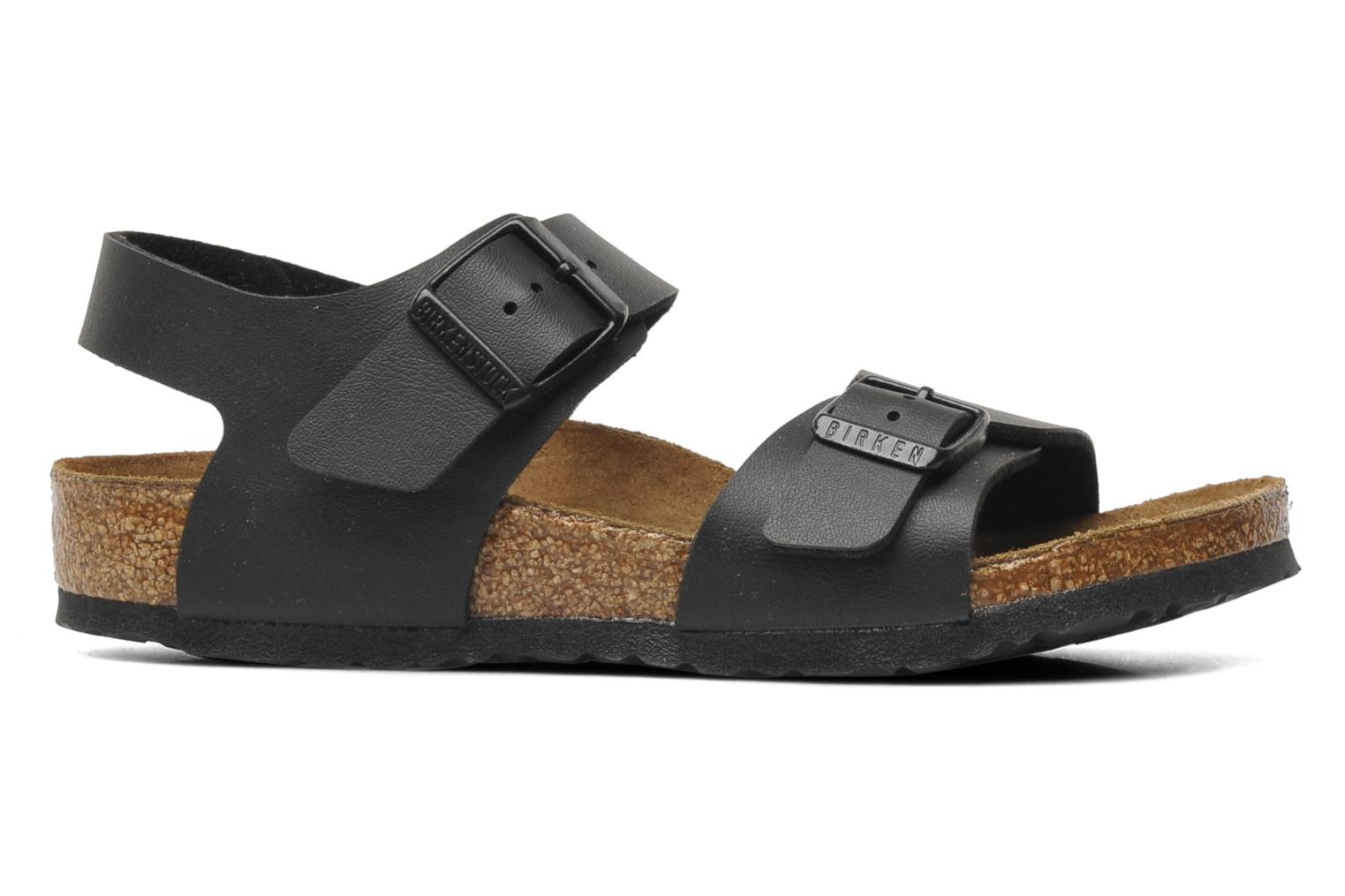 Sandals Birkenstock New York Birko Flor Black back view