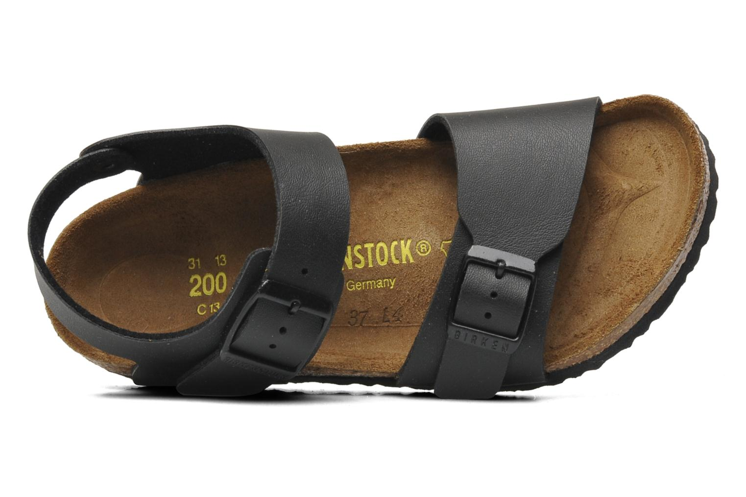 Sandals Birkenstock New York Birko Flor Black view from the left