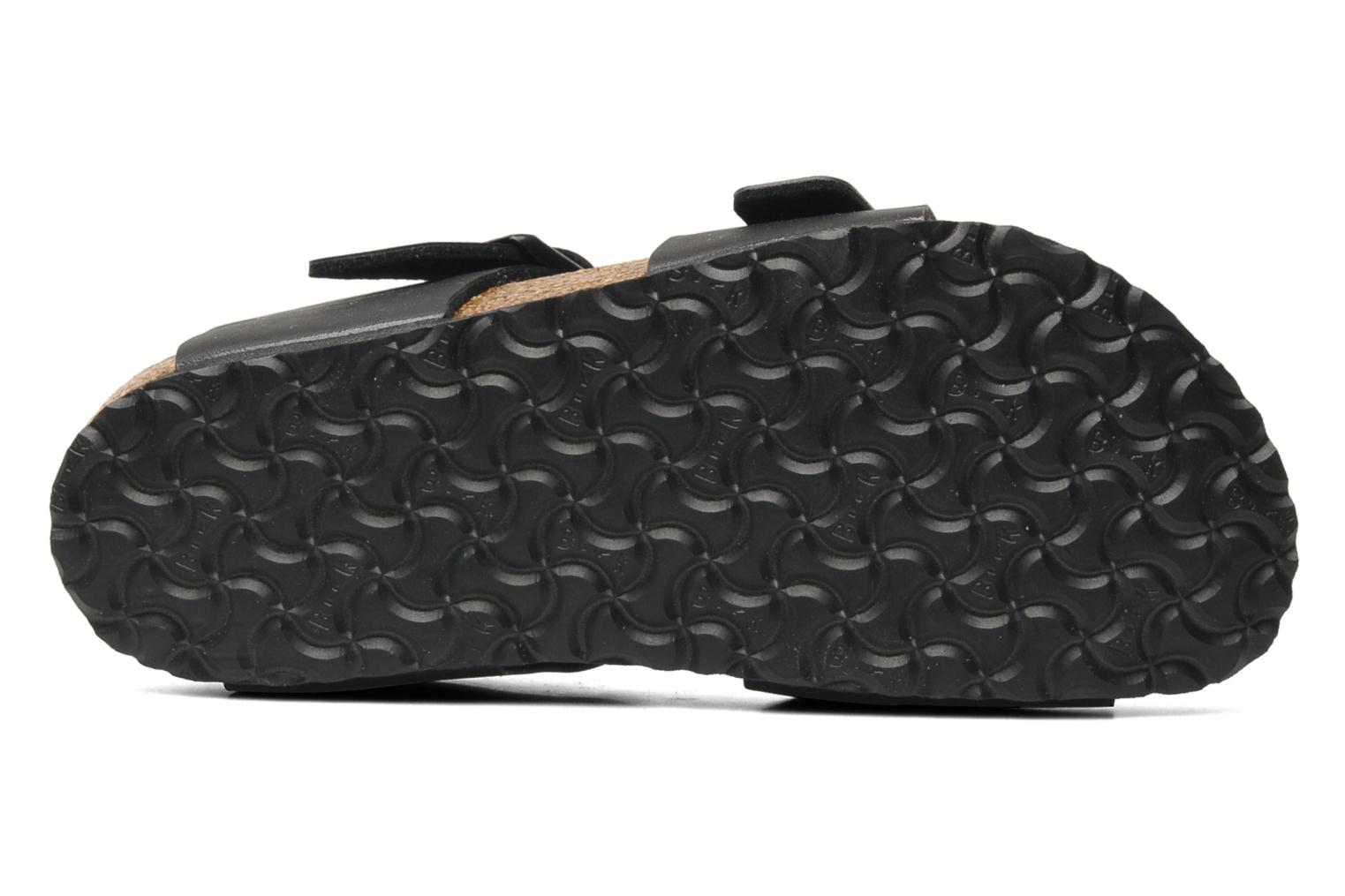 Sandals Birkenstock New York Birko Flor Black view from above