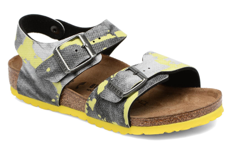 Sandales et nu-pieds Birkenstock New York Birko Flor Multicolore vue détail/paire