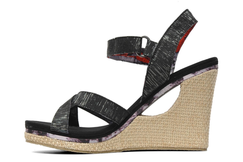 Sandalen Skechers Loveshine / Crazy Style Zwart voorkant