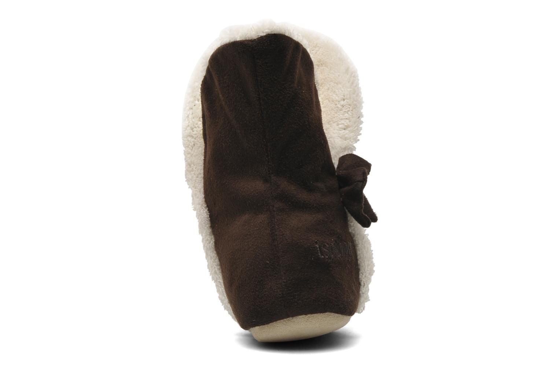 Pantoffels Isotoner Bottillon Suédine E Bruin rechts