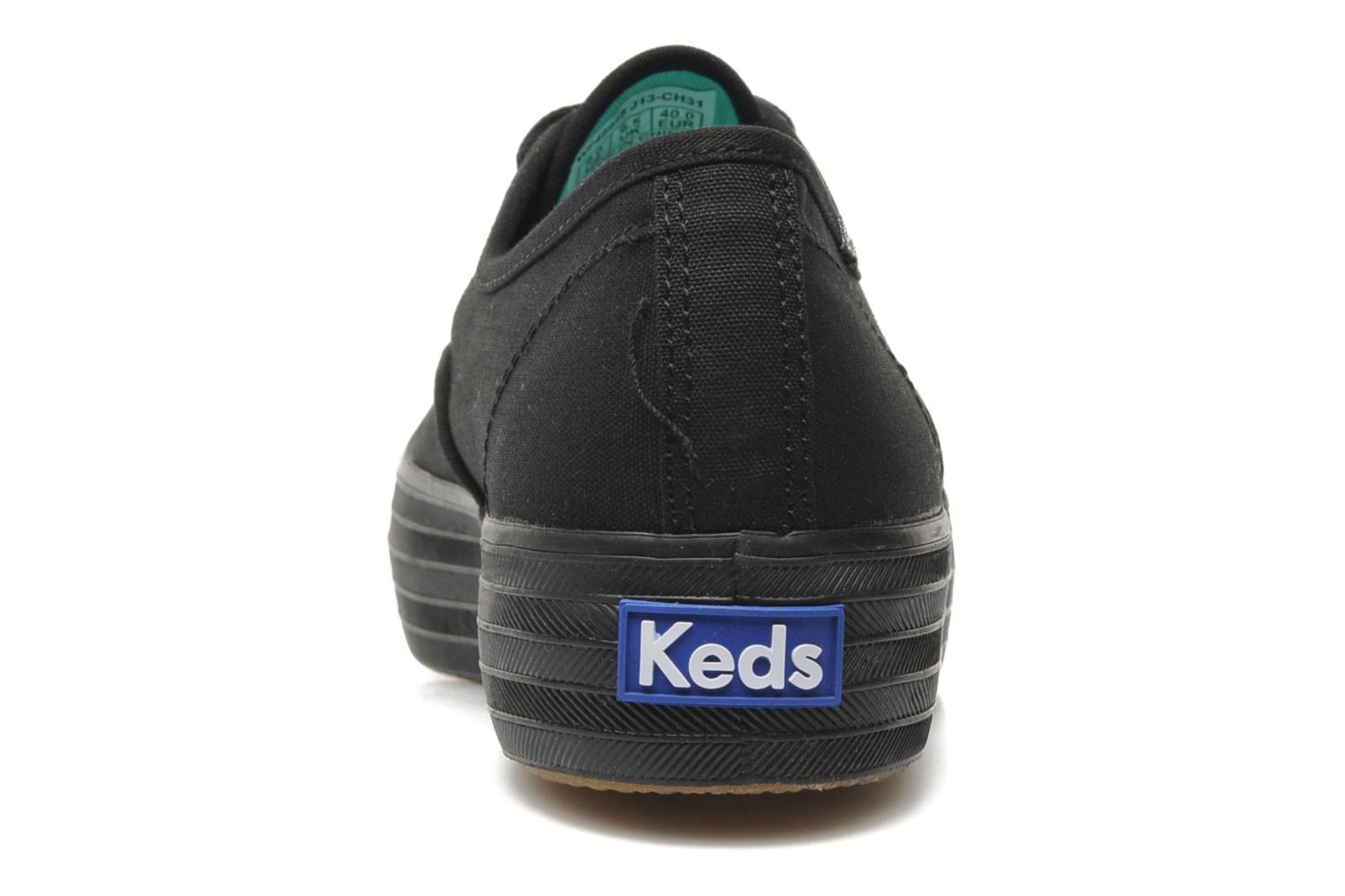 Trainers Keds Triple Black view from the right