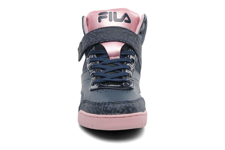Baskets FILA Bounce Mid W Bleu vue portées chaussures