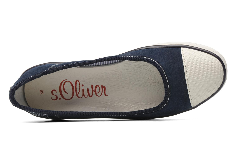 Ballerina's S.Oliver Scolla Blauw links