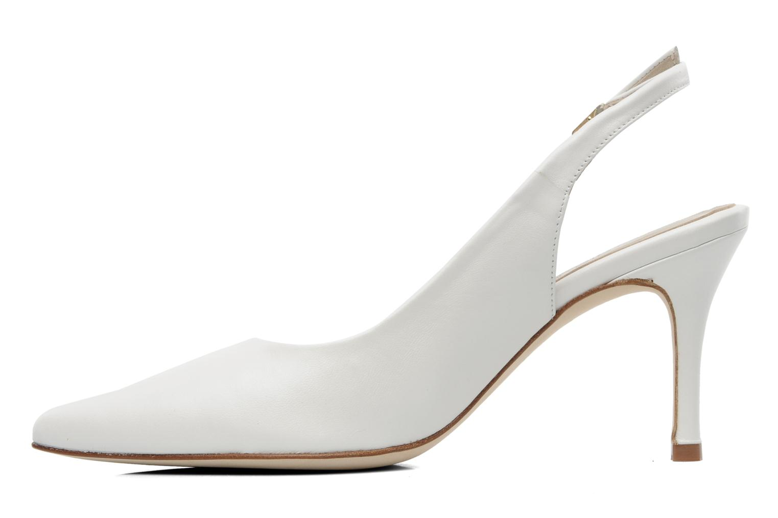 High heels Georgia Rose Laos CFT White front view