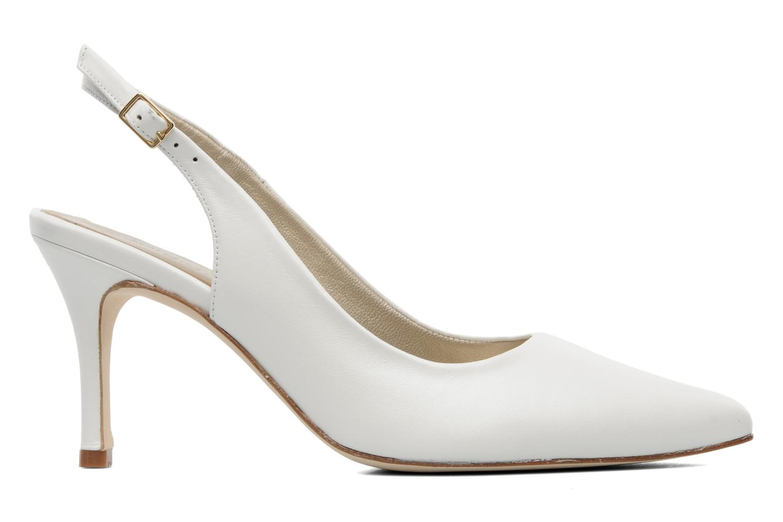 High heels Georgia Rose Laos CFT White back view