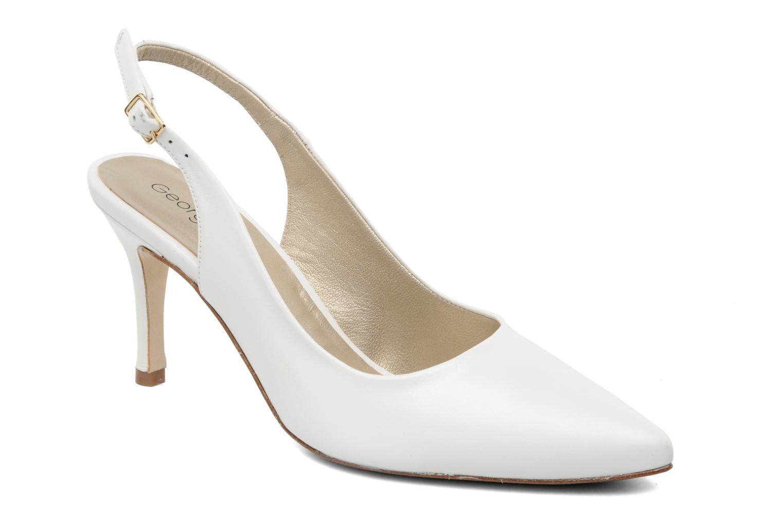 High heels Georgia Rose Laos CFT White detailed view/ Pair view