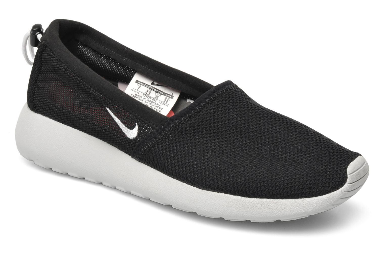 Wmns Nike Rosherun Slip Black-White-Geranium-Lt Bs Gry