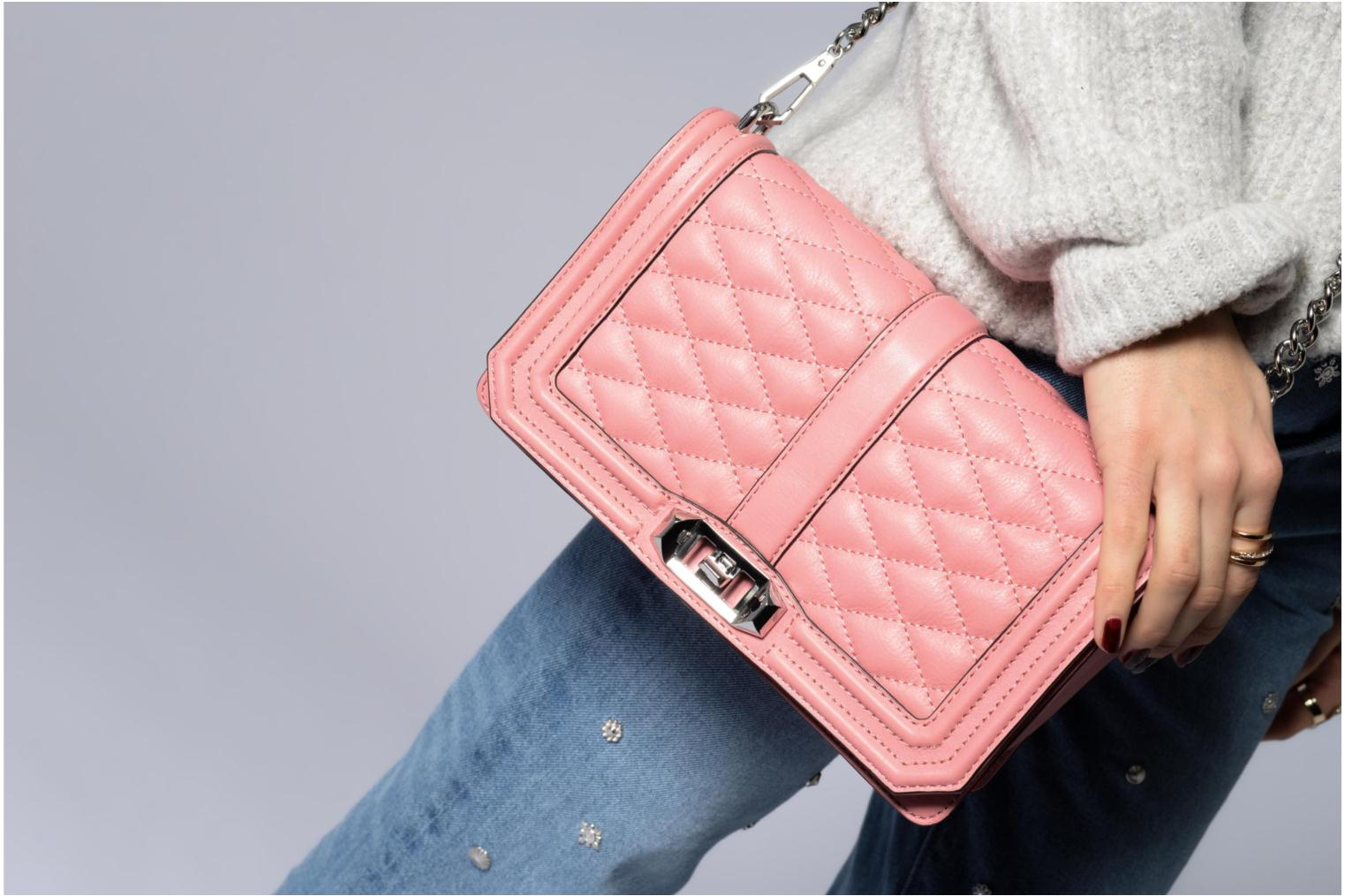 Sacs à main Rebecca Minkoff Love Crossbody Rose vue haut