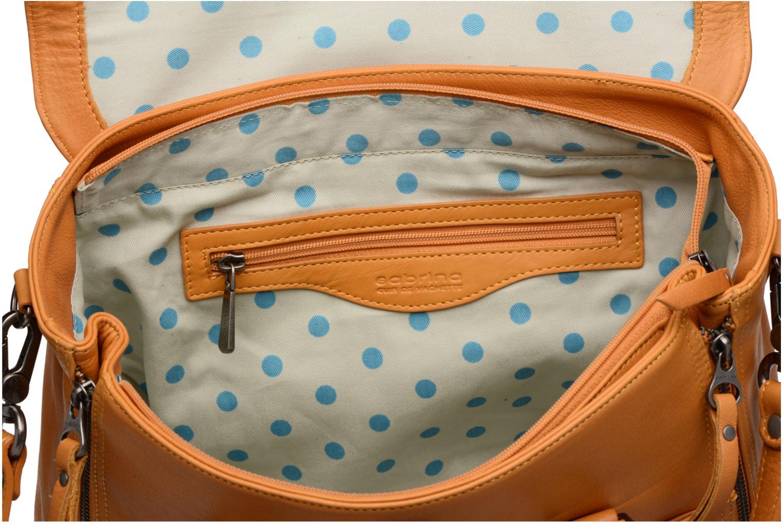 Handtassen Sabrina Charlotte Geel achterkant