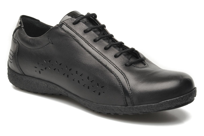 Chaussures à lacets TBS Kahina Noir vue détail/paire