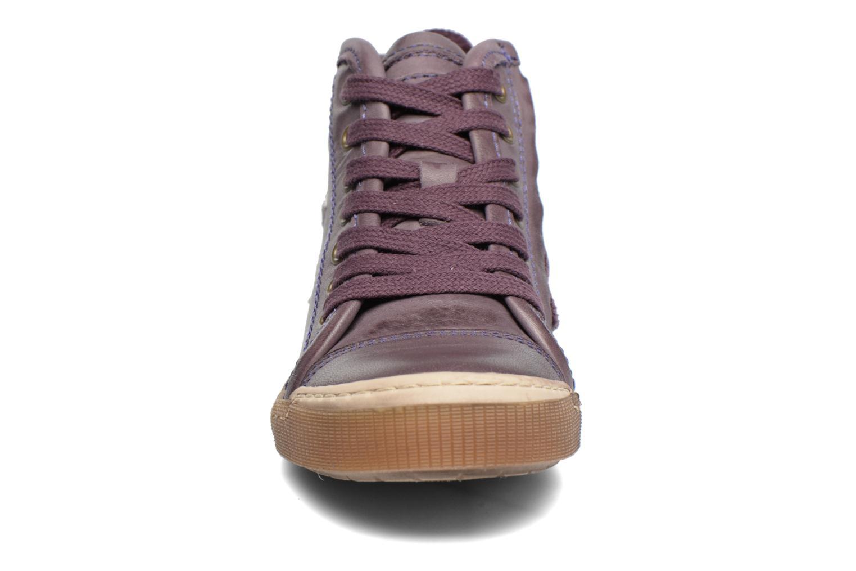Baskets Bisgaard Henrik Violet vue portées chaussures
