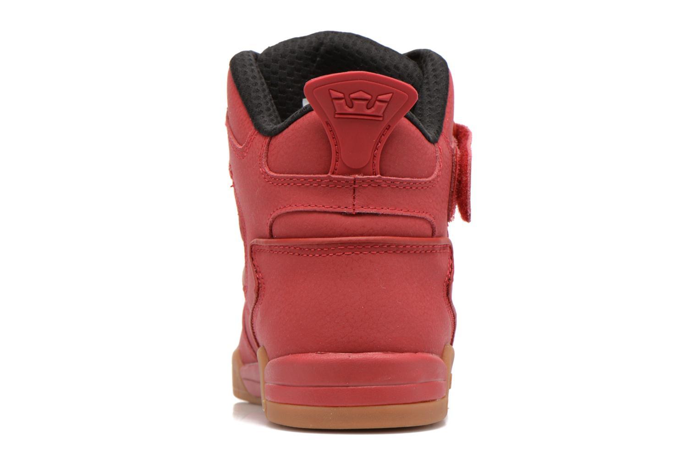 Baskets Supra Bleeker Rouge vue droite