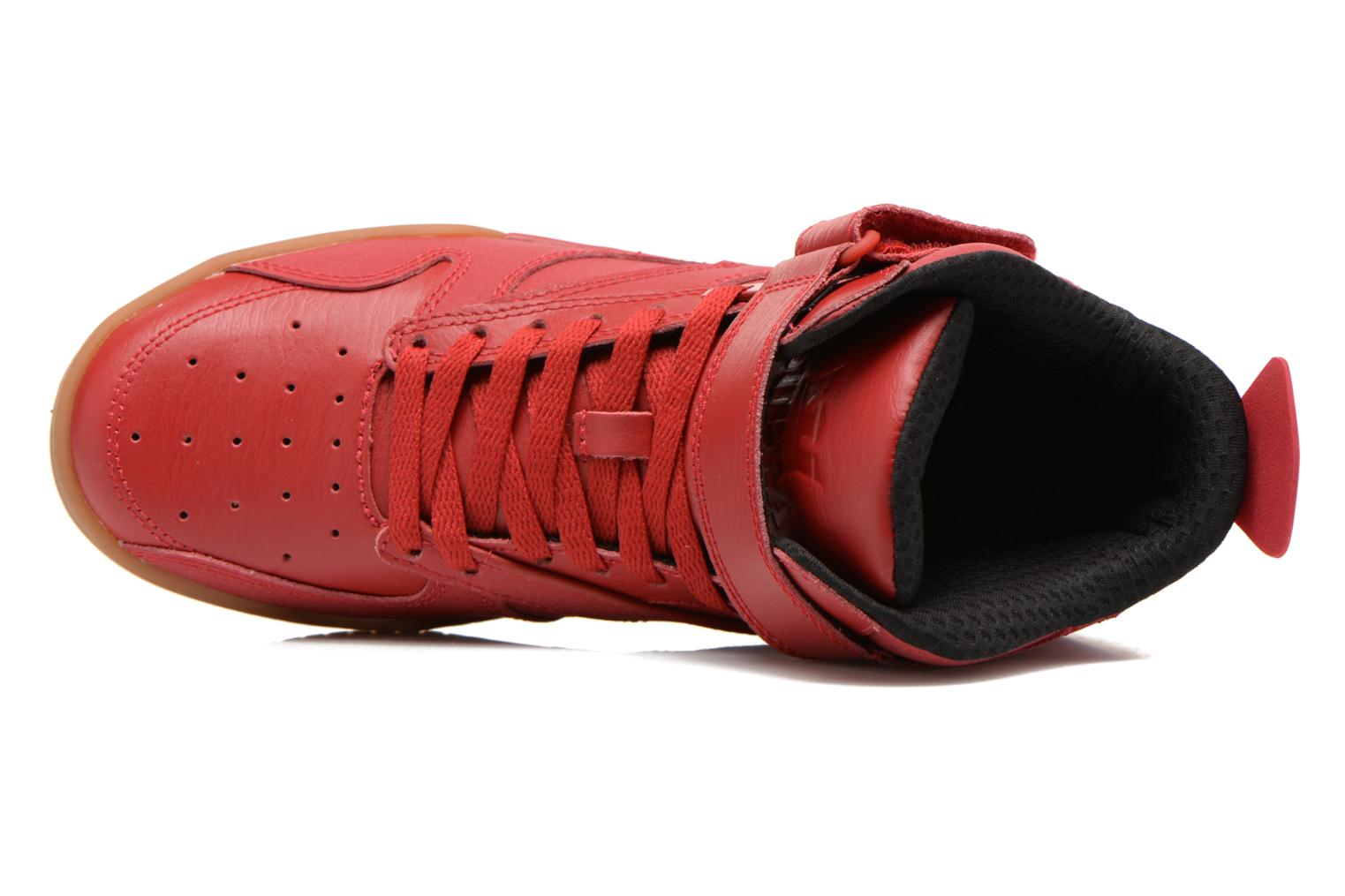 Trainers Supra Bleeker Red view from the left