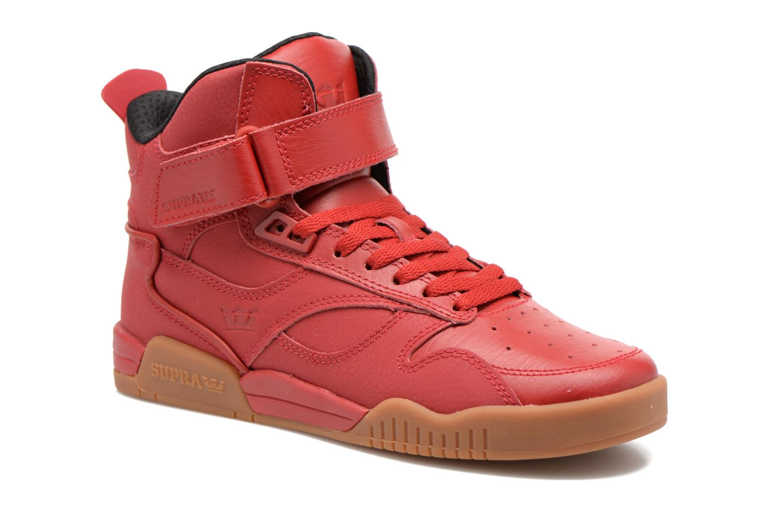 Trainers Supra Bleeker Red detailed view/ Pair view