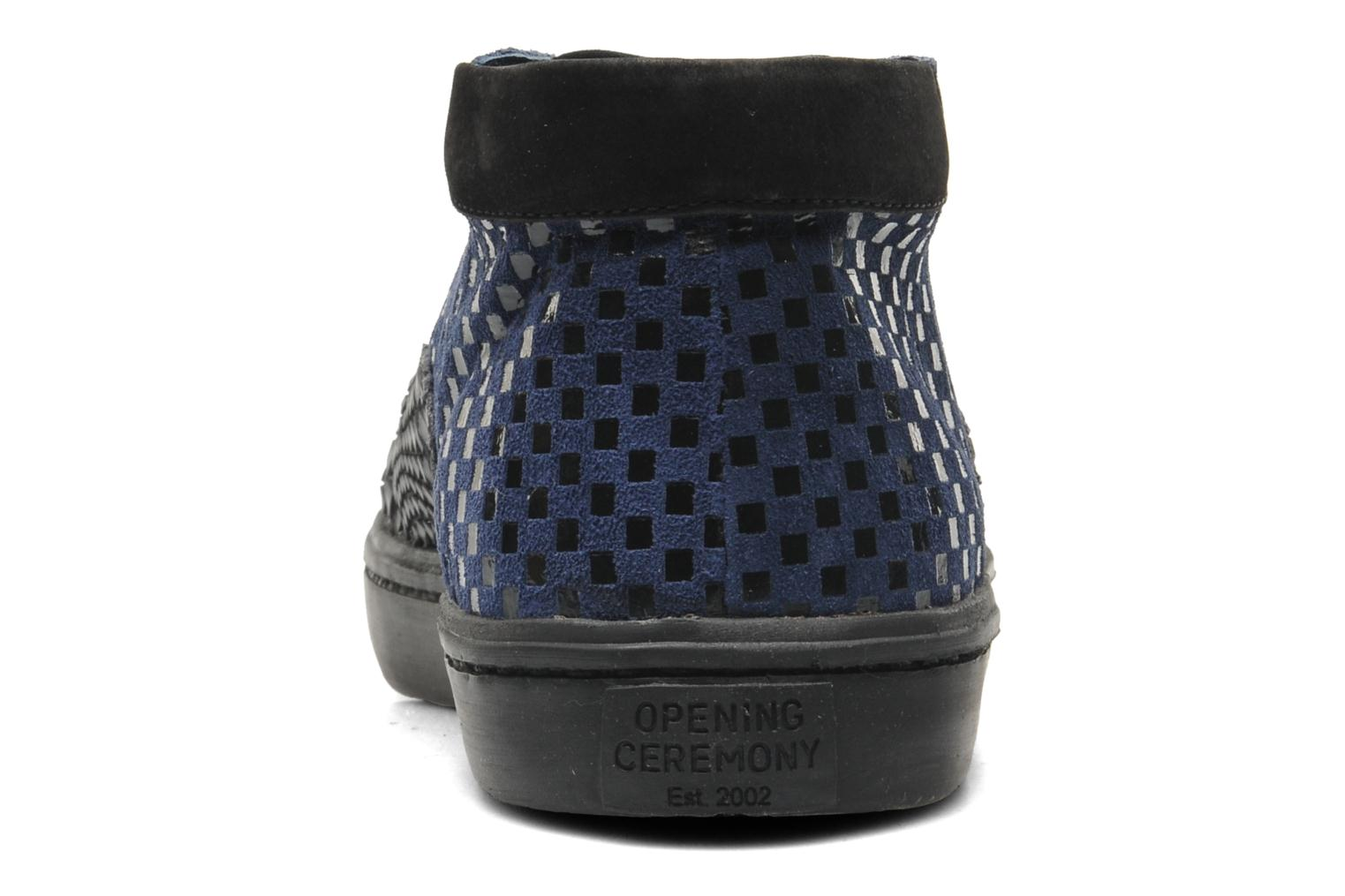 Mason high top Navy Multi Checkered Suede