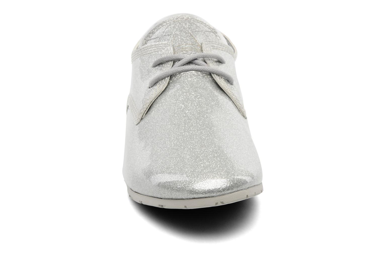 Chaussures à lacets Eleven paris baspat glitter silver Gris vue portées chaussures