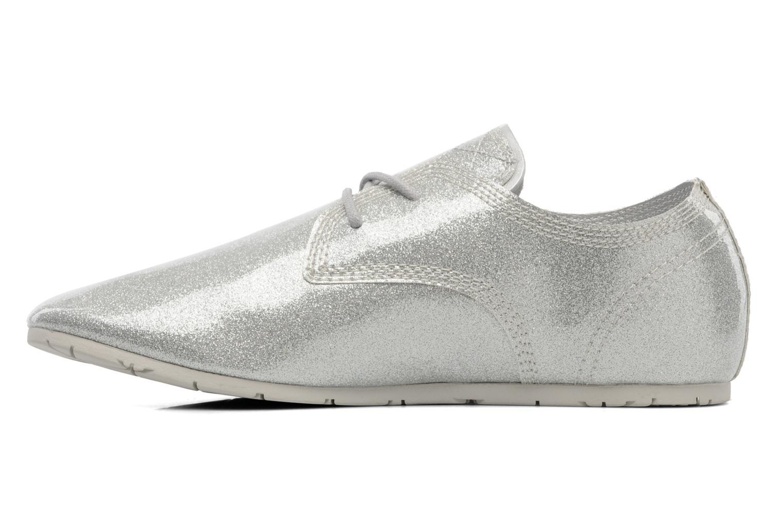 Chaussures à lacets Eleven paris baspat glitter silver Gris vue face