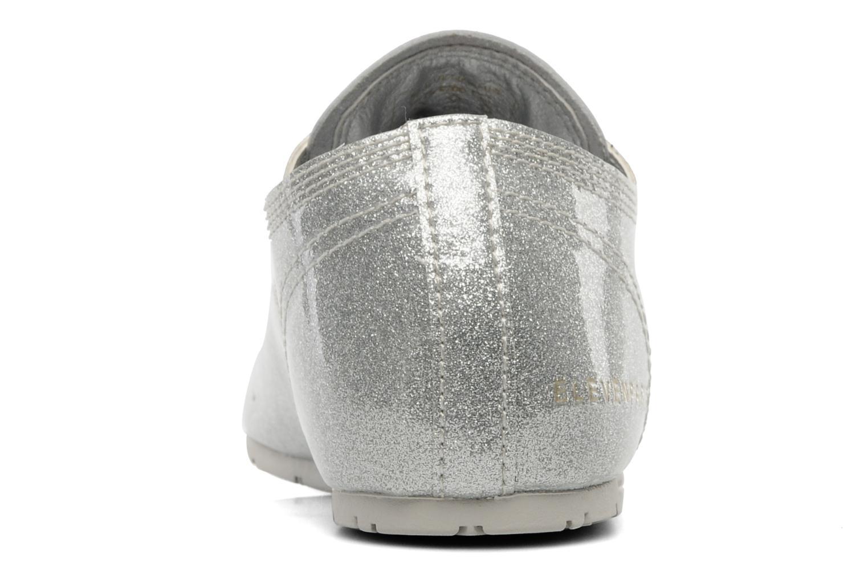 Chaussures à lacets Eleven paris baspat glitter silver Gris vue droite