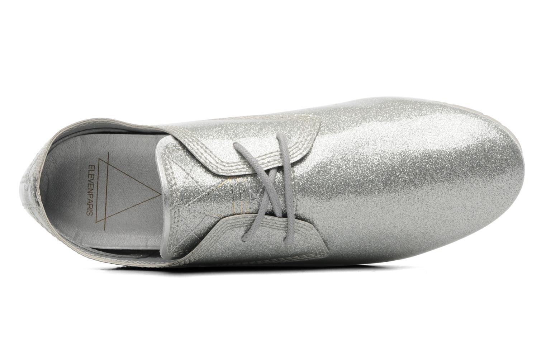 Chaussures à lacets Eleven paris baspat glitter silver Gris vue gauche