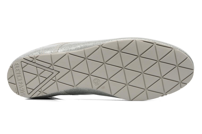 Chaussures à lacets Eleven paris baspat glitter silver Gris vue haut