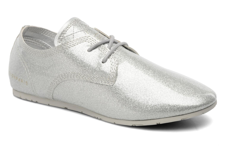 Chaussures à lacets Eleven paris baspat glitter silver Gris vue détail/paire