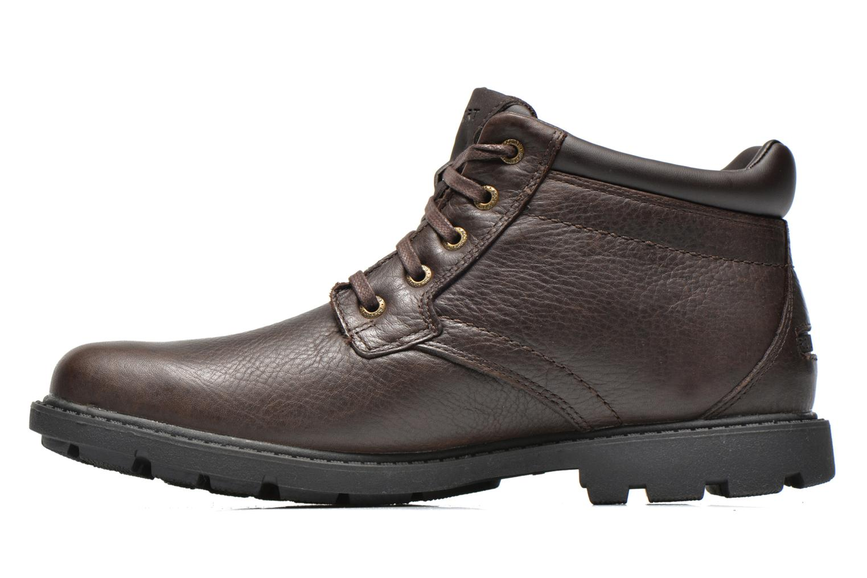 Chaussures à lacets Rockport Rgd Buc Wp Boot Marron vue face