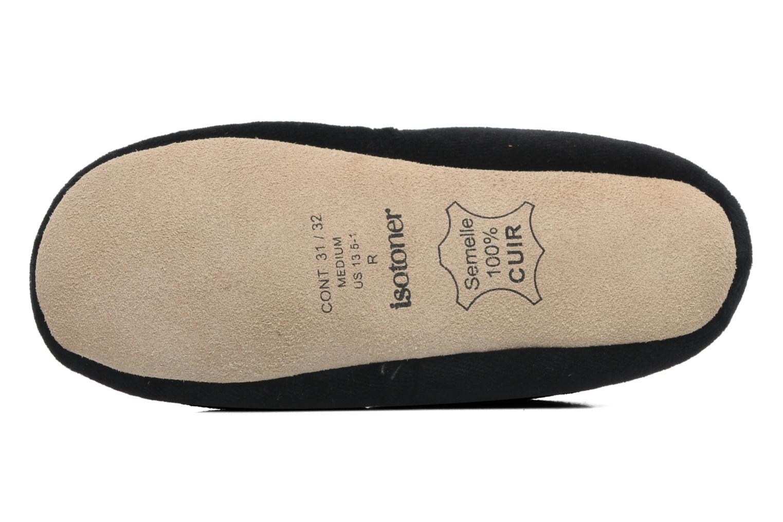 Pantoffels Isotoner Charentaise Velours Brodée E Zwart boven
