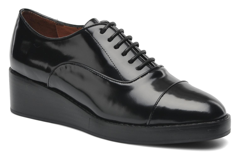 Chaussures à lacets Jeffrey Campbell Ernesto Noir vue détail/paire