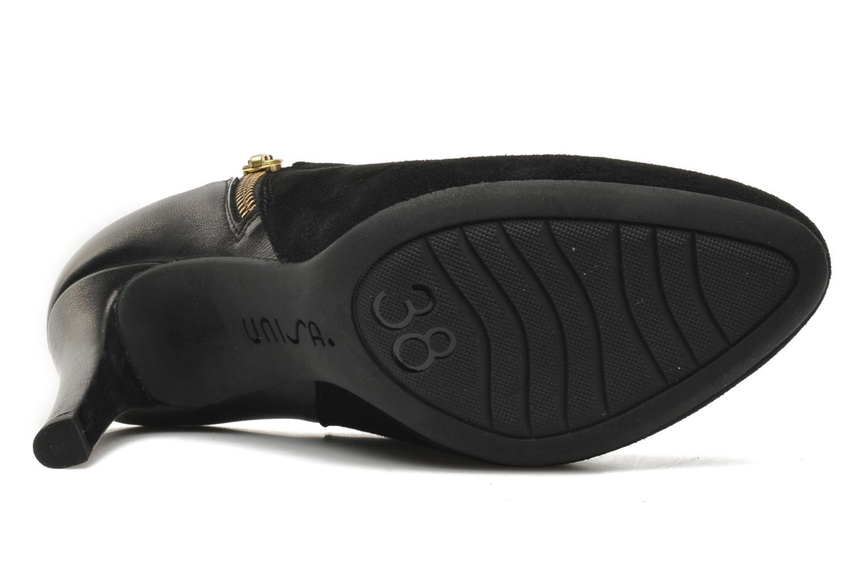 Bottines et boots Unisa Pumin Noir vue haut
