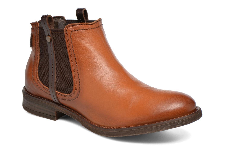 Boots en enkellaarsjes Coco et abricot Canelle Bruin detail
