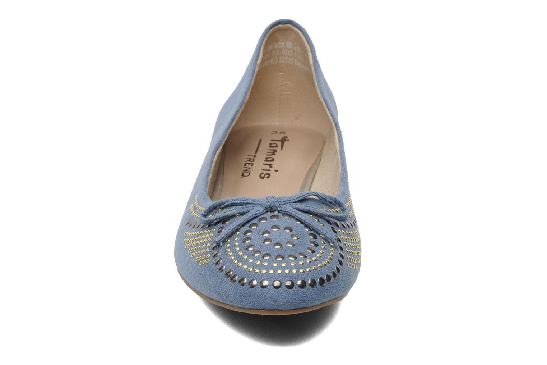 Ballerines Tamaris Tatiana Bleu vue portées chaussures