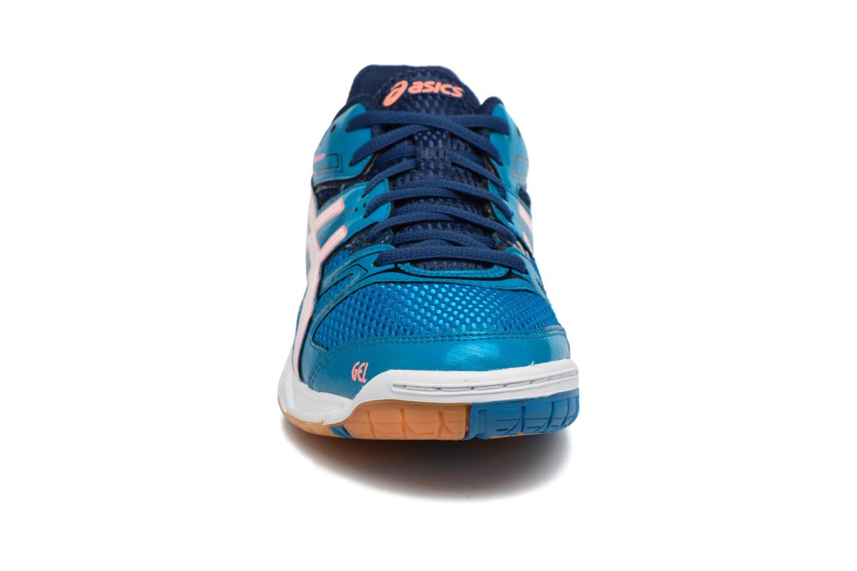 Chaussures de sport Asics Lady Gel-Rocket 7 Bleu vue portées chaussures
