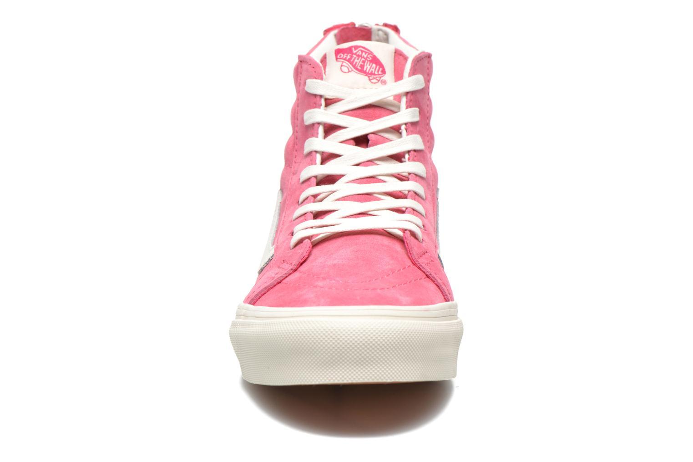 Sneaker Vans SK8-Hi Slim Zip rosa schuhe getragen