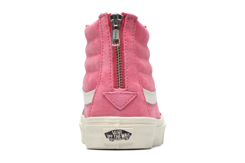 Sneaker Vans SK8-Hi Slim Zip rosa ansicht von rechts