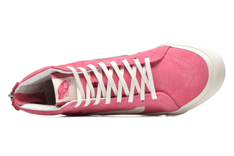 Sneaker Vans SK8-Hi Slim Zip rosa ansicht von links