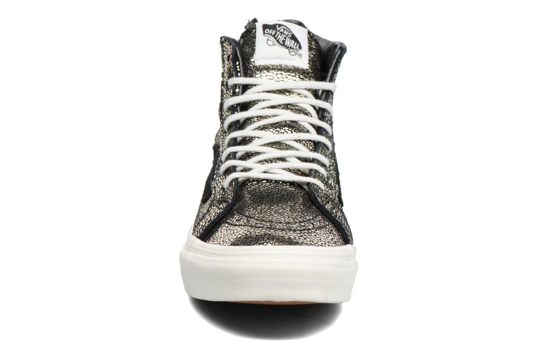 Baskets Vans SK8-Hi Slim Zip Or et bronze vue portées chaussures