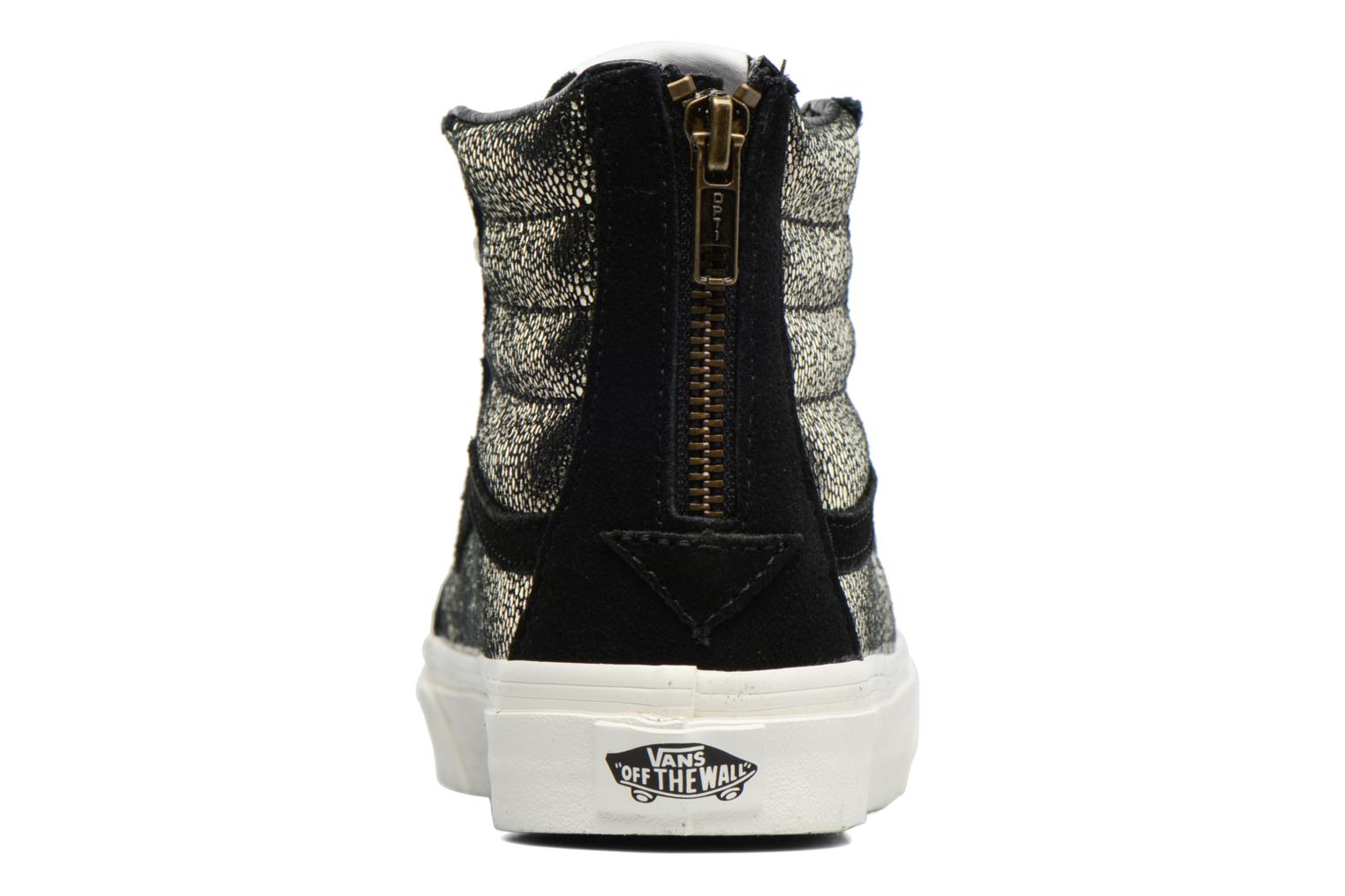 Trainers Vans SK8-Hi Slim Zip Bronze and Gold view from the right