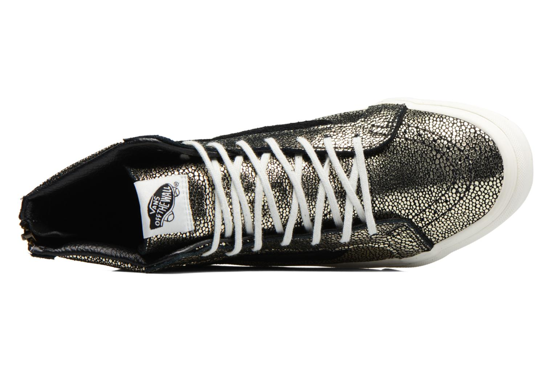 Sneaker Vans SK8-Hi Slim Zip gold/bronze ansicht von links