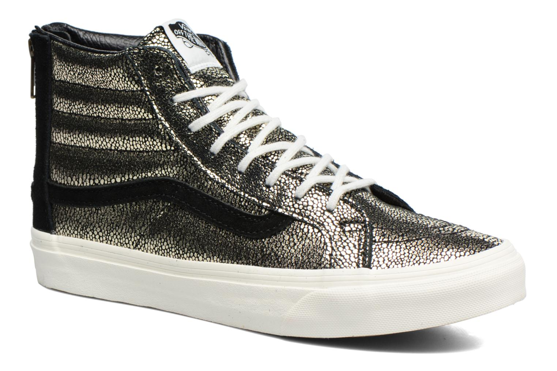 Baskets Vans SK8-Hi Slim Zip Or et bronze vue détail/paire