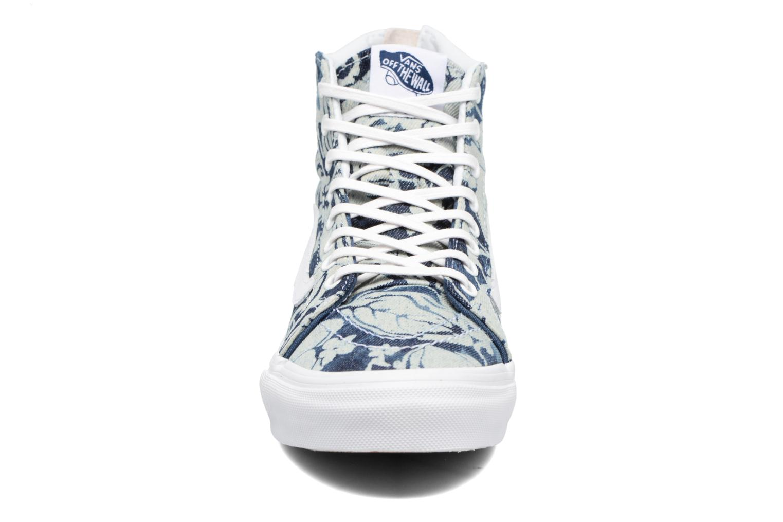 Baskets Vans SK8-Hi Slim Zip Bleu vue portées chaussures