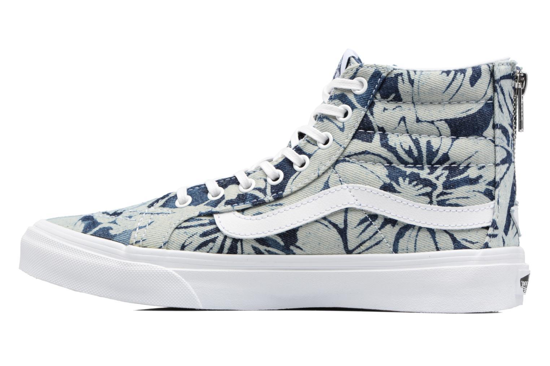 Baskets Vans SK8-Hi Slim Zip Bleu vue face