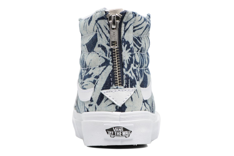 Baskets Vans SK8-Hi Slim Zip Bleu vue droite