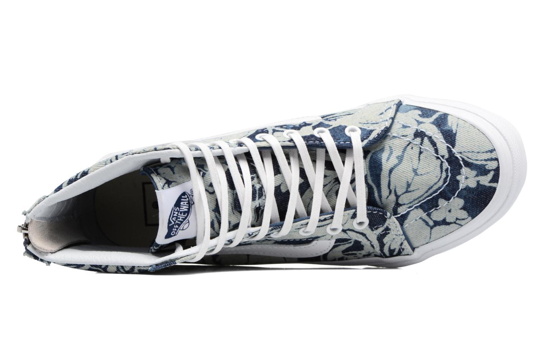 Baskets Vans SK8-Hi Slim Zip Bleu vue gauche