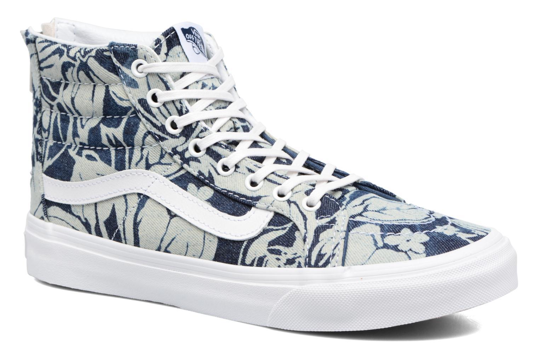 Baskets Vans SK8-Hi Slim Zip Bleu vue détail/paire