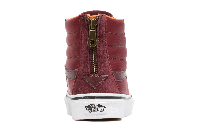 Baskets Vans SK8-Hi Slim Zip Bordeaux vue droite