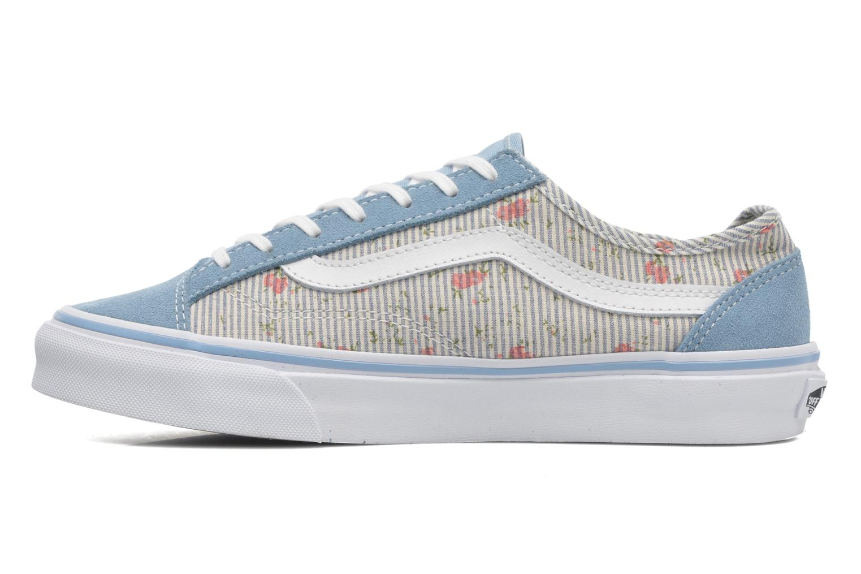 Baskets Vans Style 36 Slim W Bleu vue face