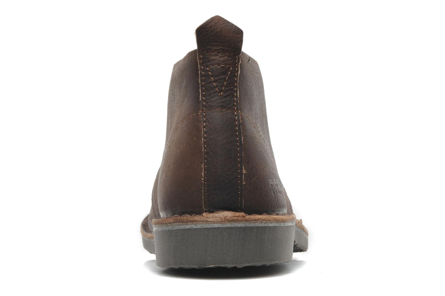 Chaussures à lacets Jack & Jones JJ Gobi Heavy Leather Desert Boot Prm Marron vue droite