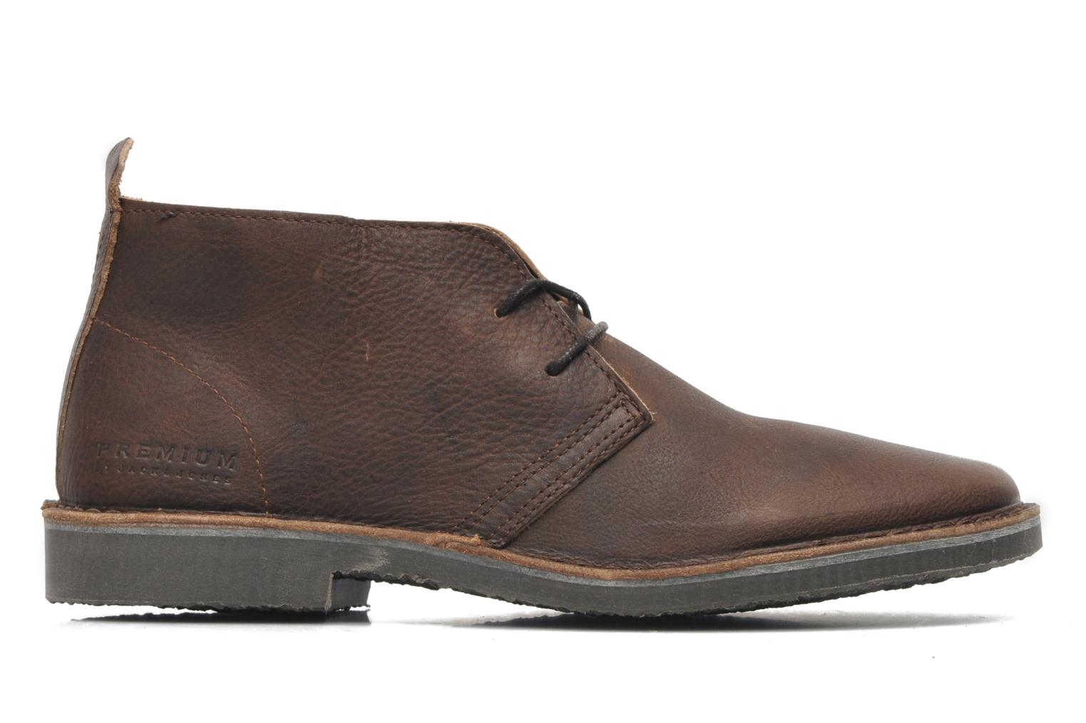 Chaussures à lacets Jack & Jones JJ Gobi Heavy Leather Desert Boot Prm Marron vue derrière